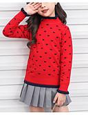 povoljno Džemperi i kardigani za djevojčice-Djeca Djevojčice Osnovni Dnevno Jednobojni Dugih rukava Regularna Pamuk Džemper i kardigan Red