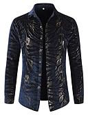 abordables Camisas de Hombre-Hombre Lujo Estampado - Algodón Camisa Leopardo / Fiesta / Manga Larga / Discoteca / Cuello Inglés
