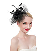 cheap Women's Headpieces-Women's Sweet / Fashion Headband / Hair Clip / Fascinator - Solid Colored / Floral Flower / Mesh