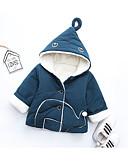 povoljno Vanjska odjeća za Za dječake bebe-Dijete Dječaci Osnovni Jednobojni Dugih rukava Normalne dužine Pamuk Pernata i pamučna podstava Navy Plava