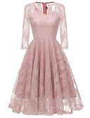 cheap Romantic Lace Dresses-Women's Basic A Line Dress - Solid Colored Lace