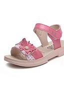 זול שמלות לבנות-בנות נעליים מיקרופייבר קיץ נוחות סנדלים ל פעוטות אדום / ורוד