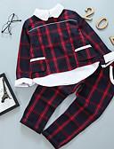 billige Tøjsæt til piger-Børn Pige Basale Ensfarvet Langærmet Normal Bomuld / Polyester Tøjsæt Grøn
