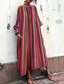 billige Maxikjoler-Dame Elegant Skiftet Kjole - Stripet Maksi