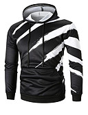 cheap Men's Hoodies & Sweatshirts-Men's Basic Long Sleeve Hoodie - Solid Colored Pleated Hooded White L