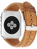olcso Karóra tartozékok-Valódi bőr Nézd Band Szíj mert Apple Watch Series 4/3/2/1 Barna 23cm / 9 inch 2.1cm / 0.83 Hüvelyk