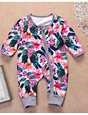 お買い得  赤ちゃん ウェアセット 男の子用-赤ちゃん 女の子 ベーシック 日常 フラワー 長袖 ポリエステル ワンピース ピンク