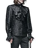billige Leker og hobbyer-Cosplay Vintage Bluse / Skjorte Party-kostyme Maskerade Herre Kostume N / A Svart / Hvit Vintage Cosplay Langermet / # / #