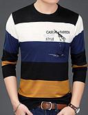 お買い得  メンズTシャツ&タンクトップ-男性用 Tシャツ ベーシック カラーブロック