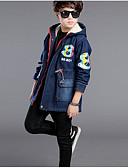 povoljno Džemperi i kardigani za djevojčice-Djeca Dječaci Osnovni Dnevno Jednobojni Dugih rukava Normalne dužine Pamuk Baloner Navy Plava