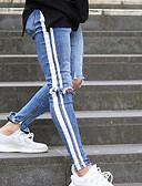 baratos Pólos Masculinas-Homens Básico Algodão Jeans Calças - Sólido Azul / Primavera / Outono