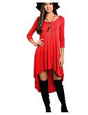 povoljno Ženske haljine-Žene Veći konfekcijski brojevi Korice Haljina Asimetričan
