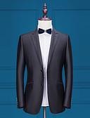 halpa Iltapuvut-Yhtenäinen Räätälöity istuvuus Polyesteri Puku - Lovikäänne Yksirivinen kaksi nappia / Suits