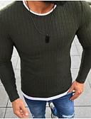 お買い得  メンズTシャツ&タンクトップ-男性用 日常 ベーシック ソリッド 長袖 レギュラー プルオーバー ブラック / ルビーレッド / グレー XXXL / 4XL / XXXXXL
