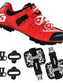 preiswerte Radtrikot und Shorts / Hosen Sets-SIDEBIKE Erwachsene Fahrradschuhe mit Pedalen & Pedalplatten / Mountainbikeschuhe Karbon Polsterung Radsport Schwarz / rot Herrn