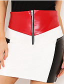 tanie Damska spódnica-Damskie Moda miejska Bodycon Spódnice Kolorowy blok
