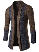 cheap Men's Sweaters & Cardigans-Men's Daily Basic Patchwork Color Block Long Sleeve Butterfly Sleeves Slim Regular Cardigan Spring / Fall / Winter Dark Gray / Camel / Gray L / XL / XXL