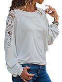 povoljno Majica s rukavima-Majica Žene - Osnovni Dnevno Jednobojni Crn