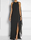 cheap Women's Skirts-Women's Split Plus Size Party Elegant Maxi Shift Dress - Solid Colored Black, Layered Summer Red Purple Royal Blue XXL XXXL 4XL