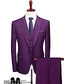 זול חליפות-אחיד גזרה מחוייטת פוליאסטר חליפה - פתוח Single Breasted One-button / חליפות