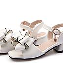 preiswerte Unterröcke für Hochzeitskleider-Mädchen Schuhe Lackleder Frühling Sommer Fersenriemen / Schuhe für das Blumenmädchen Sandalen Schleife / Schnalle für Kinder / Baby Weiß / Schwarz / Rosa