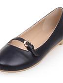economico Vestiti a fantasia-Per donna PU (Poliuretano) Primavera Ballerine Heel di blocco Nero / Rosa / Tessuto almond