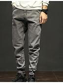 お買い得  メンズTシャツ&タンクトップ-男性用 ベーシック プラスサイズ スウェットパンツ パンツ - ソリッド グレー