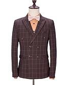 ieftine Costume-Cu model Fit Croit Poliester Costum - Vârf Rânduri Duble Șase-butoane