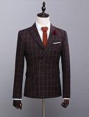 זול טוקסידו-מעוטר גזרה מחוייטת פוליאסטר חליפה - סגור חזה כפול 6 כפתורים