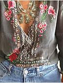 baratos Vestidos para Trabalhar-Mulheres Camisa Social Moda de Rua Floral