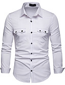 cheap Men's Shirts-Men's Business / Basic Shirt - Solid Colored