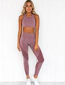 economico Completi due pezzi da donna-Per donna Essenziale Set Monocolore Pantalone
