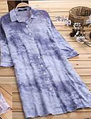 billige Kjoler i plus størrelser-kvinders plus størrelse daglig asymmetrisk løs skjorte kjole skjorte krave lilla lyserød s m l xl