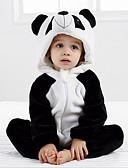 Χαμηλού Κόστους Βρεφικά σετ ρούχων-Μωρό Κοριτσίστικα Ενεργό Καθημερινά Ασπρόμαυρο Patchwork Μακρυμάνικο Πολυεστέρας Ένα Κομμάτι Μαύρο