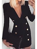 baratos Vestidos para Trabalhar-vestido de bainha slim midi diária das mulheres v pescoço preto s m l xl
