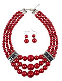 cheap Women's Belt-women's european / fashion / multi layer imitation pearl jewelry sets