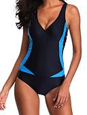 ieftine One-piece swimsuits-Pentru femei De Bază Halter Albastru piscină Cheeky O Piesă Costume de Baie - camuflaj Fără Spate XXXL XXXXL XXXXXL Albastru piscină / Sexy