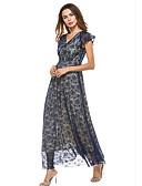 ราคาถูก ผ้าคลุมสำหรับชุดแต่งงาน-สำหรับผู้หญิง พื้นฐาน เพรียวบาง ปลอก แต่งตัว - ลูกไม้, สีพื้น ขนาดใหญ่ คอวี / Sexy