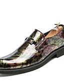 זול מגנים לטלפון-בגדי ריקוד גברים נעלי נוחות PU אביב יום יומי נעלי אוקספורד ללבוש הוכחה שחור / אדום / כחול