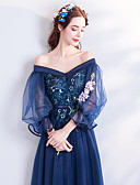 cheap Historical & Vintage Costumes-Cinderella Dress Women's Movie Cosplay Blue Dress Halloween Carnival Masquerade Tulle Organza Embroidery