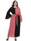 رخيصةأون فساتين طويلة-فستان نسائي ثوب ضيق شريطة طويل للأرض ألوان متناوبة