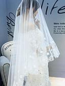 preiswerte Hochzeitsschleier-Einschichtig Blumen Stil Hochzeitsschleier Kathedralen Schleier mit Verstreute Perlen mit Blumen 118,11 in (300cm) Tüll