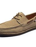 abordables Camisetas y Tops de Hombre-Hombre Los zapatos de cuero Ante Primavera & Otoño Vintage / Casual Calzado de Barco Antideslizante Negro / Gris / Caqui