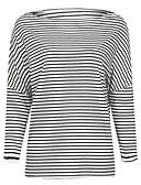 preiswerte Damen Tank-Shirts & kurze Jäckchen-Damen Gestreift - Street Schick T-shirt