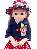hesapli Asker Saat-Kız Bezi Moda Bebeği Konuşan oyuncak Kız Bebeklerin 16 inç Silikon - Smart canlı Çocuk / Genç Kid Unisex Oyuncaklar Hediye