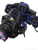 halpa Bikinis-Otsalamput LED LED 1 Emitters 1800 lm 3 lighting mode Akuilla ja latureilla Vedenkestävä Ladattava Telttailu / Retkely / Luolailu Päivittäiskäyttöön Pyöräily