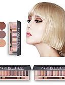 baratos Roupão-12 cores Sombra / Sombra para Olhos Diário / Sombra de olho Fosco / Brilho / Proteção / Glitter Brilhante / Multi-Função / Melhor qualidade / multi-ferramenta / esfumaçado Confortável Multi funções