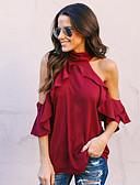 זול טישרט-אחיד סגנון רחוב חולצה - בגדי ריקוד נשים