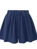 cheap Women's Skirts-Women's Basic Plus Size Daily Wide Leg / Shorts Pants - Solid Colored Cotton Black Navy Blue M L XL