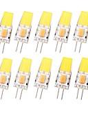 levne Pánské košile-SENCART 10pcs 3 W LED Bi-pin světla 450 lm G4 T 1 LED korálky COB Voděodolné Stmívatelné Teplá bílá Chladná bílá 12-24 V